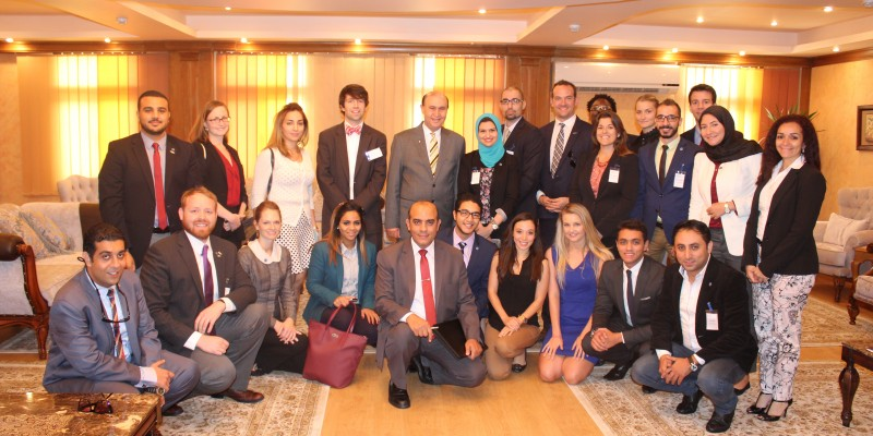 Gabr Fellows with Vice Admiral Mohab Mamish, Chairman of the Suez Canal Authority 2