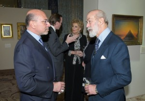 Shafik Gabr and Prince Michael of Kent
