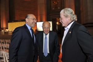 Mr Shafik Gabr, Mr Arnaud de Borchgrave and Mr Hussein Fahmy