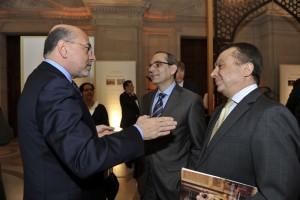 Mr Shafik Gabr, HE Mohamed Tawfik, Egyptian Amb. and Omar Ghorbal