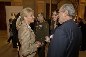 Mrs Gigi Gabr, Ms Mishana Hosseinioun and Mr Alvin Trenk ( Gen. Mohamed el Kishky in background)