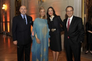Mr and Mrs Gabr with Ms Mishana Hosseinioun and Mr James Zogby
