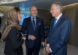 HRH Princess Basmah, Shafik Gabr and The Rt. Hon. Tony Blair