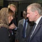 HRH Princess Basmah and Sir Sherard Cowper Coles