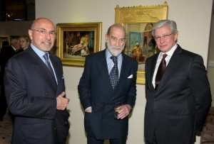 Shafik Gabr, HRH Prince Michael of Kent and Dr Taher Helmy.