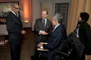 Ambassadors Abdel Aziz, Zada and Press Attache Mohamed Chaheen