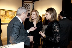 Ariana Huffington with guests