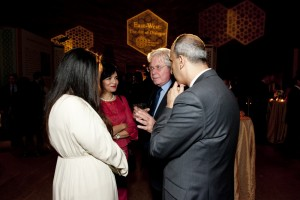 Hussein Fahmy with guests