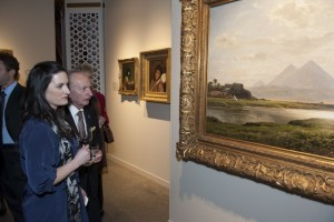 Guests viewing Koerner's The Pyramids