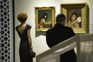 Guests viewing Egyptian Girl by Gerome and The Algerian Spinner by Taupin