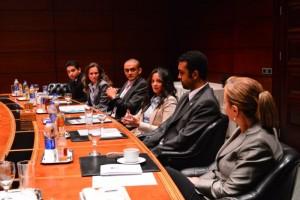 (Left to right) - Mr Ahmed Saad Zaghloul, Ms Dalia El Abd, Mr Ahmed El Habibi, Ms Sue Ellen Hassouna, Mr Amr Ismaeil and Mr Randa Fouad