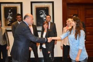 Mr Shafik Gabr with Ms Heba Safwat