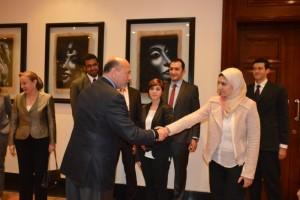 Mr Gabr with Ms Salma Abouelhussein