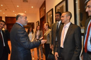 Mr Gabr with Mr Ahmed El Habibi, Mr Amr Ismaeil to the left and Mr Moataz Hussein to the right