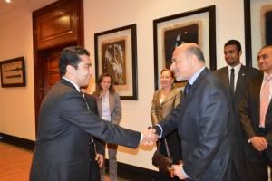 Mr Gabr with Ahmed Saad Zaghloul