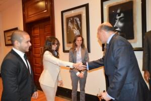Mr Gabr with Ms Sue Ellen Hassouna
