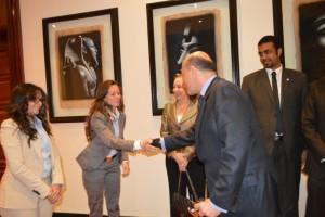 Mr Gabr with Ms Dalia El Abd