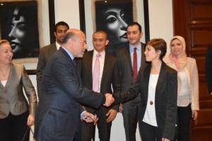 Mr Gabr with Ms Mariam Ibrahim