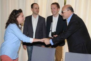 Reem, Mr Shafik Gabr, Alex Goldmark and Jeff Walls