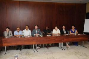 Mariam Ibrahim, Mohammed Mubarek, Ahmed El Habibi, Daniel Sullivan, Haroun Habib, Veda Partalo, Christina Fallon and Elizabeth Cartier