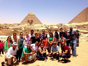 The Gabr Fellows at the Pyramids