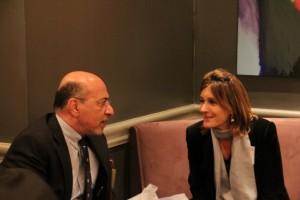 Mr Shafik Gabr and Elizabeth Goodyear