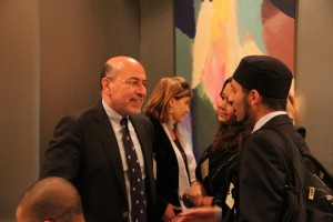 Mr Shafik Gabr and guest at Yale dinner