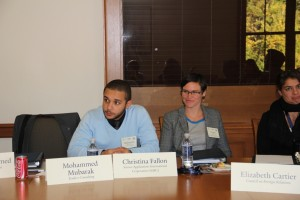 Mohammed Mubarak and Christina Fallon at Yale