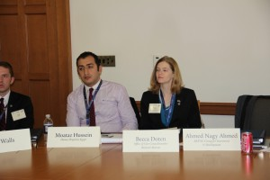 Moataz Hussein and Becca at Yale