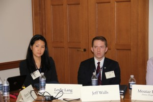 Leslie Lang and Jeff Walls at Yale