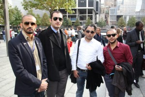 Habibi, Moataz, Nagy and Mubarak in New York