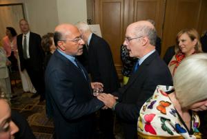 Mr Shafik Gabr and Strobe Talbot