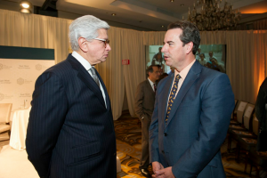 Taher Helmy and Ambassador Stuart Holliday