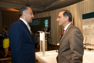 Hussein Shobokshi with Jim Zogby