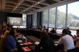 Gabr Fellows with Coca Cola staff