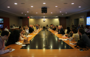 Gabr Fellows meet CNN anchors and producers