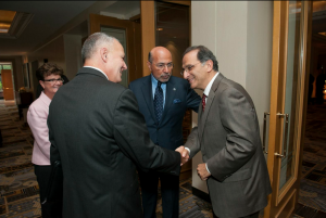 Mr Shafik Gabr with Gen. Tom Cosentino and James Zogby