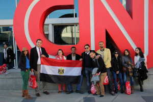 Egyptian Fellows at CNN HQ