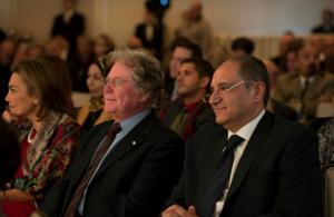 Cherin Helmy, Hussein Fahmy and Ambassador Ahmed Farouk