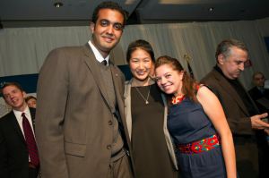 Amr Ismail, Leslie Lang and Reem Soliman (Gabr Fellows)