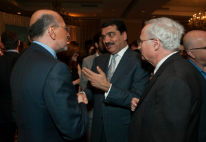 Mr Shafik Gabr with Qatari Ambassador and Mr Aburdene