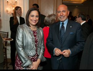 Mr Shafik Gabr and Randa Fahmy