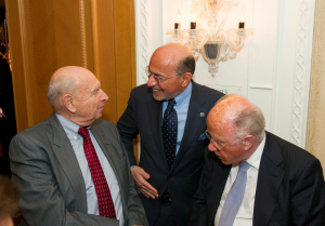 Tom Pickering, Mr Shafik Gabr and Arnaud de Borchgrave