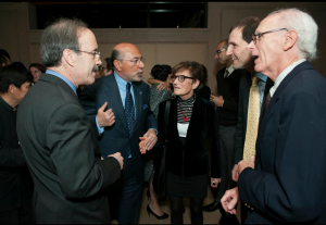 Congressman Eliot Engel, Shafik Gabr, Prof. Dan Shapiro and his parents