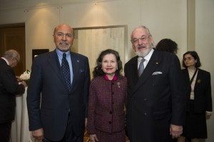 Mr Shafik Gabr with Mr and Mrs Norbert Wirsching