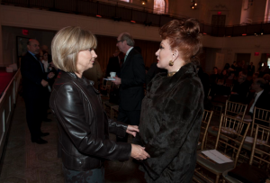 Veronica Trenk and Georgette Mosbacher