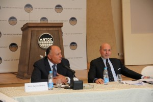 Ambassador Sameh Shukry and Mr Shafik Gabr