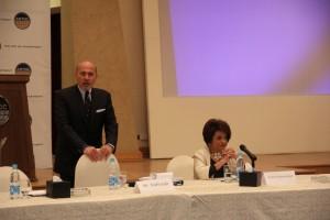 Mr Shafik Gabr and Dr Mona Makram
