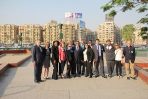 Gabr Fellows at Tahrir Square