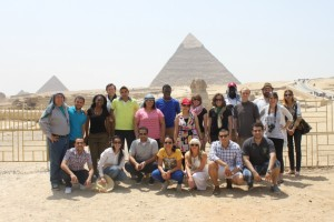 Gabr Fellows with the Pyramids and Sphinx